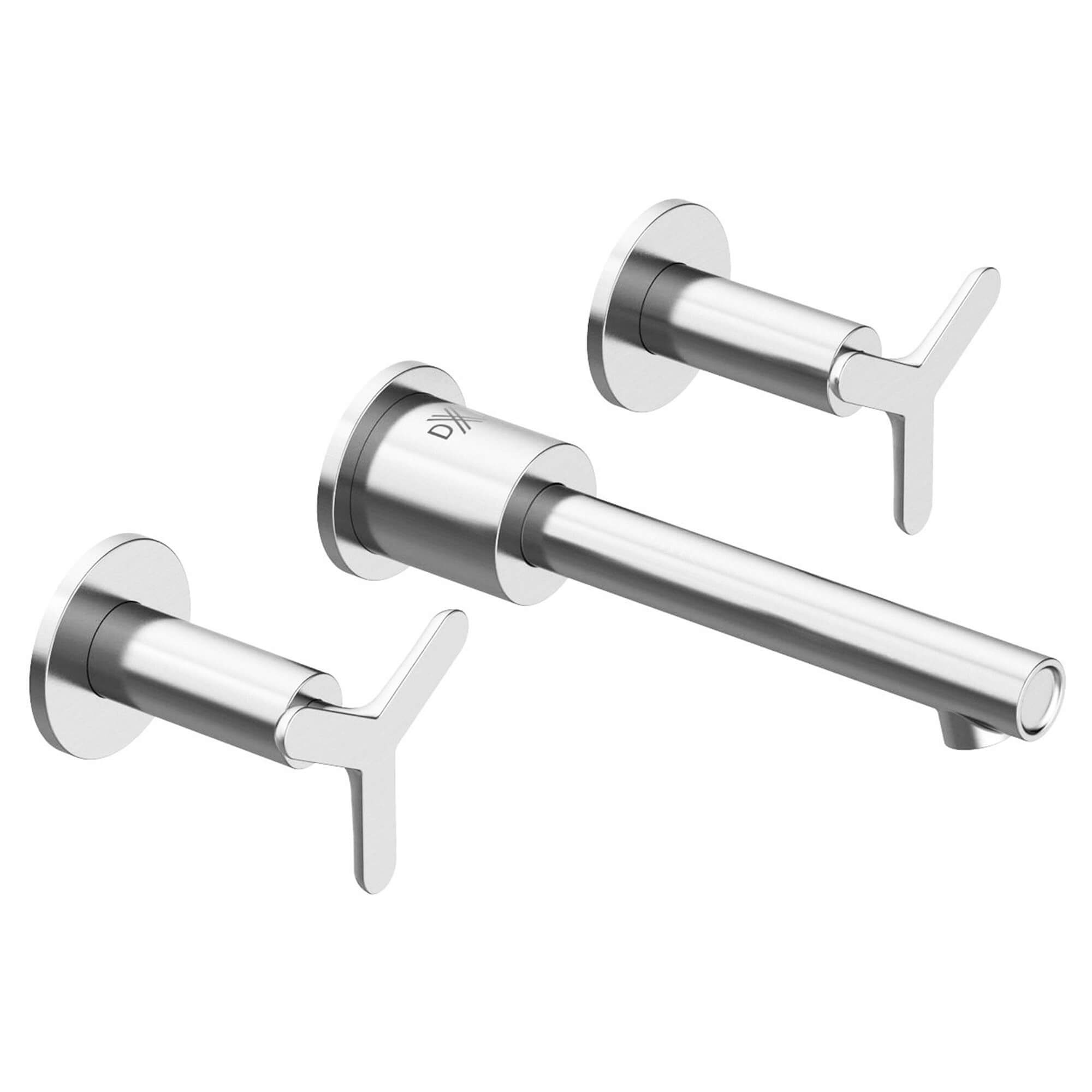 Percy Wall-Mount Faucet with Tri-Spoke Handles