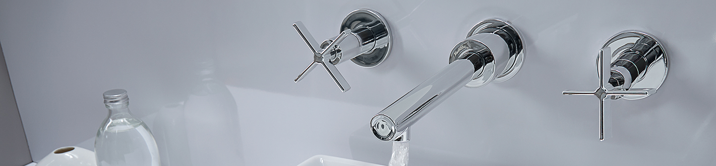 DXV Percy Wall-Mounted Vessel Faucet with Cross Handles Banner