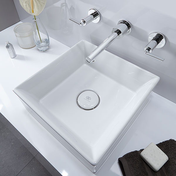 Vessel Faucets- Percy Wall Mount Vessel Bathroom Faucet with Lever ...