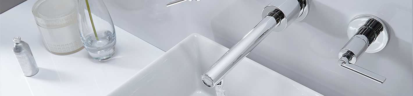 DXV Percy Wall-Mounted Vessel Faucet with Lever Handles Banner