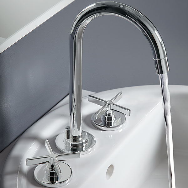 Widespread Bathroom Faucets- Percy Lavatory Faucet with Cross ...
