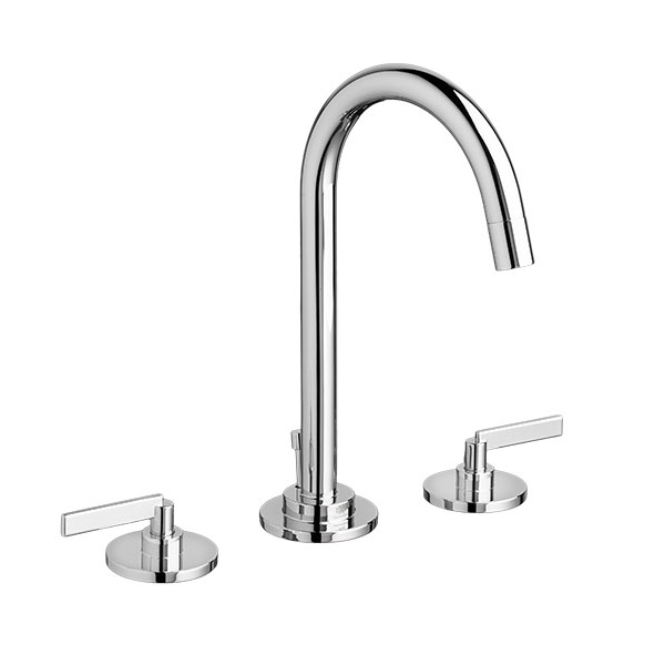 DXV Percy Widespread Bathroom Faucet with Lever Handles- Polished Chrome