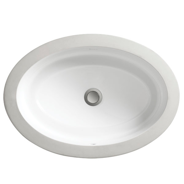 DXV Pop Grande Oval Under Counter Bathroom Sink- Canvas White