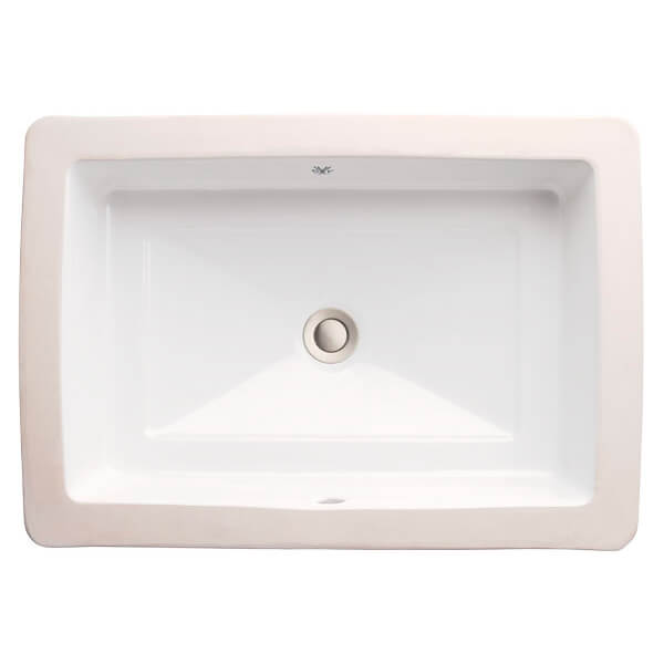 DXV Pop Grande Rectangle Under Counter Bathroom Sink- Canvas White