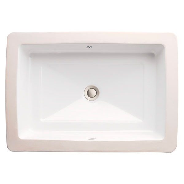 Grand lavabo encastré rectangulaire Pop