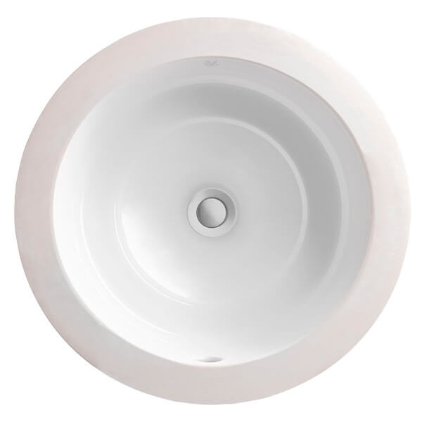 DXV Pop Grande Round Under Counter Bathroom Sink- Canvas White