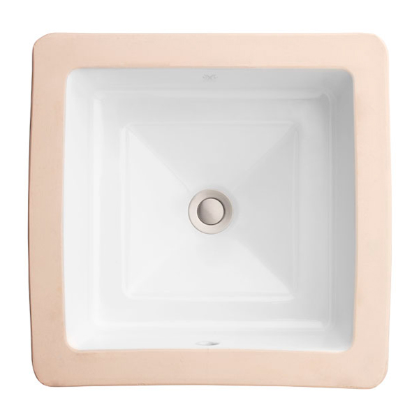 DXV Pop Grande Square Under Counter Bathroom Sink- Canvas White