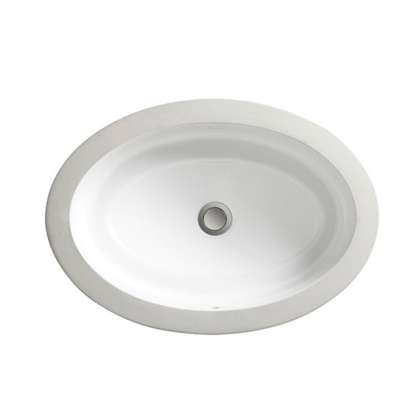 DXV Pop Oval Under Counter Bathroom Sink- Canvas White