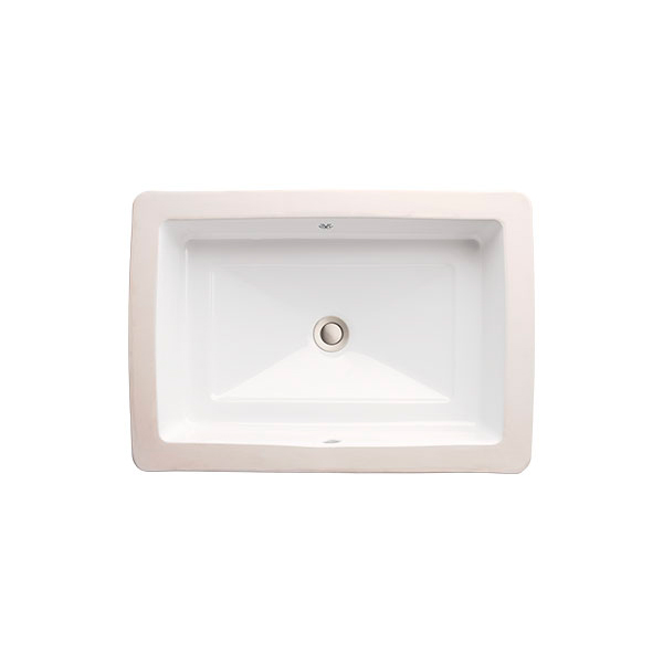 DXV Pop Petite Rectangle Under Counter Bathroom Sink- Canvas White