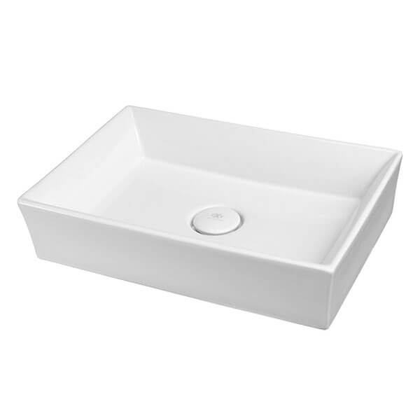 Pop Rectangle Vessel Bathroom Sink- Canvas White