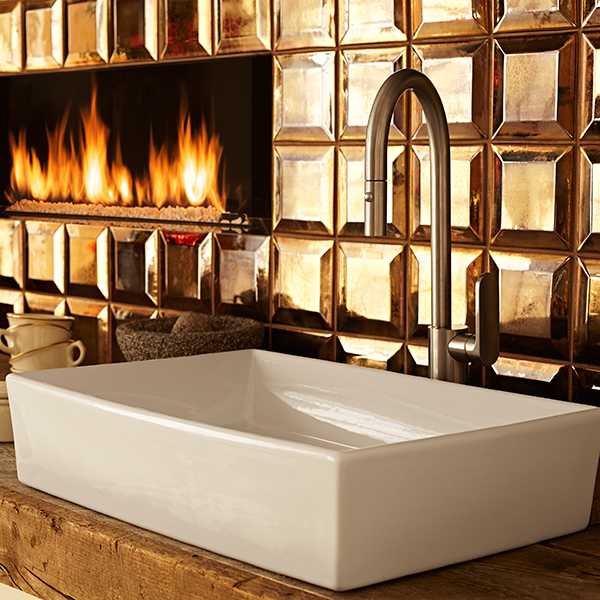 Incroyable Pop Rectangle Vessel Bathroom Sink
