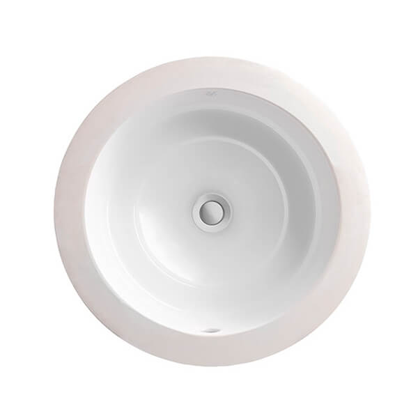 DXV Pop Round Under Counter Bathroom Sink- Canvas White