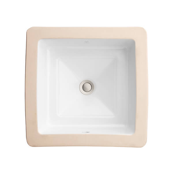 DXV Pop Square Under Counter Bathroom Sink- Canvas White
