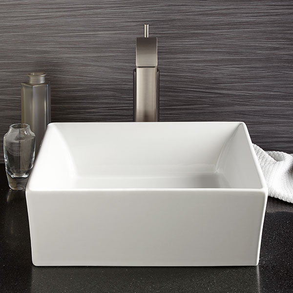 Vessel Bathroom Sink - Pop Square Vessel Lavatory from DXV