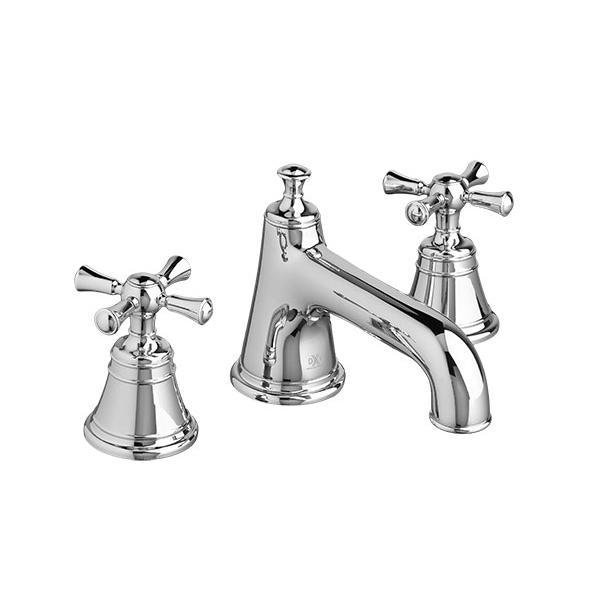 DXV Randall Widespread Bathroom Faucet with Cross Handles- Polished Chrome