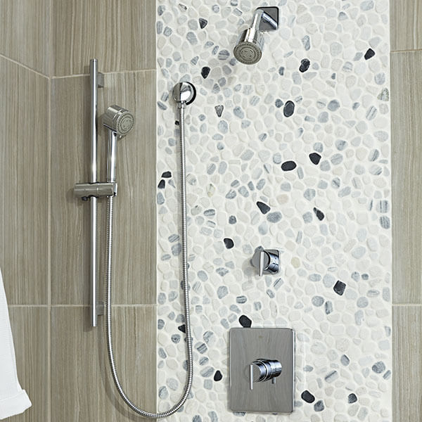 DXV Rem Personal Shower Set with Hand Shower Room Scene - Polished Chrome