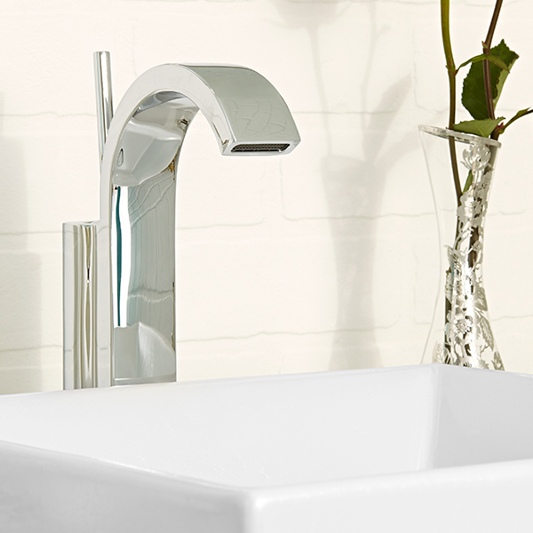DXV Rem Vessel Faucet Room Scene- Polished Chrome