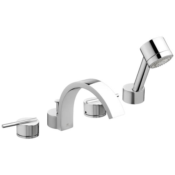 Rem Water Saving Deck Mount Bathtub Faucet with Hand Shower