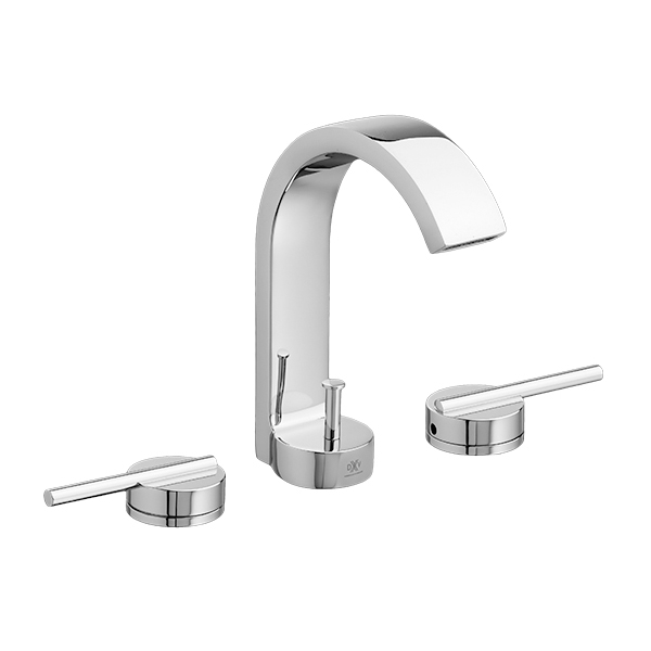 bathroom white lavatory with lever by dxv faucet product gpm faucets handles widespread percy