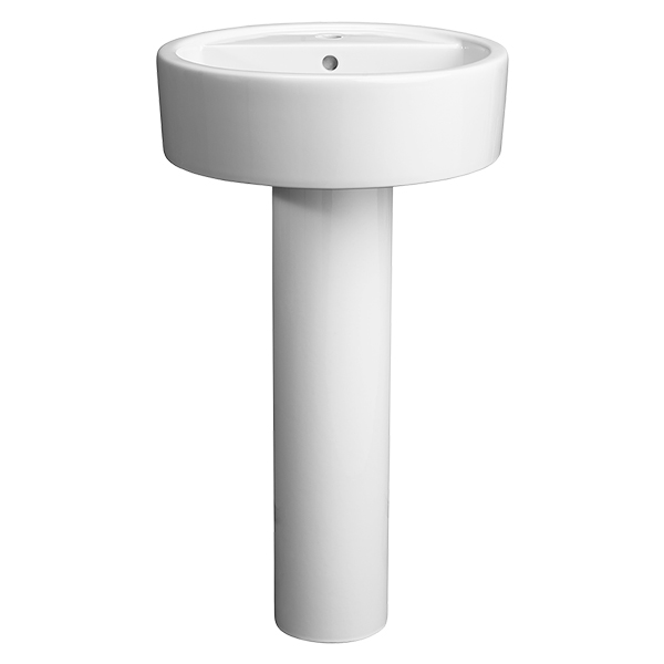 Seagram 20 Inch Round Pedestal Bathroom Sink