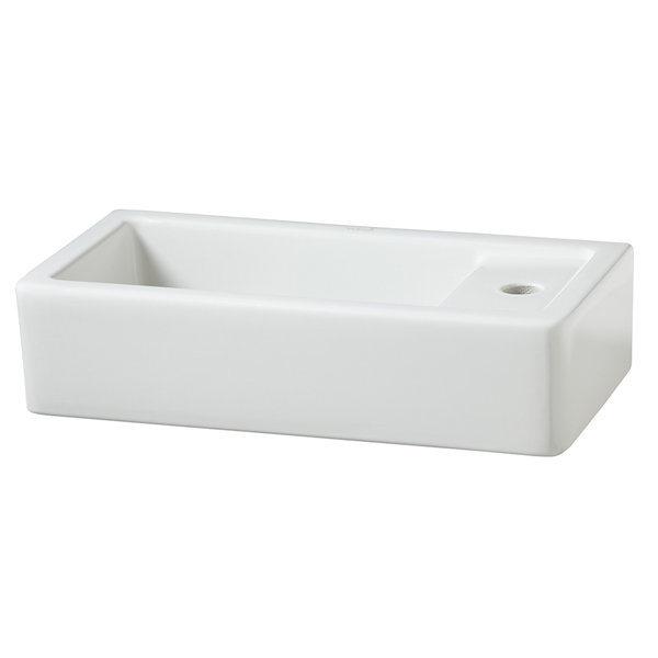 Cossu Rectangle Wall-Hung Bathroom Sink- Right Hand Drain