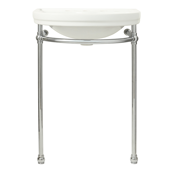 DXV St. George Console Sink- Canvas White/Polished Chrome