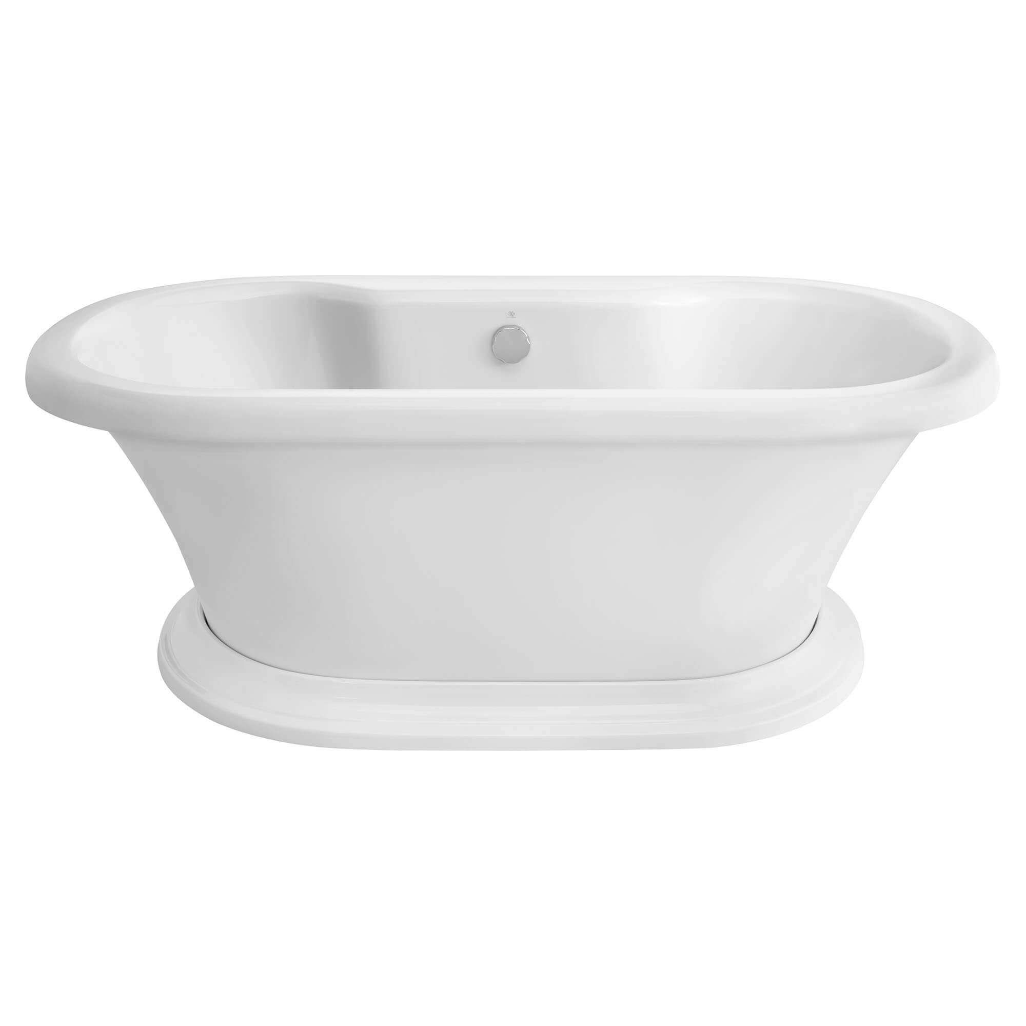 St. George Freestanding Soaking Tub with Deck- Canvas White