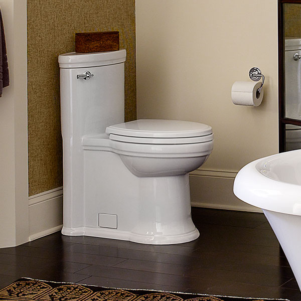 DXV St. George One-Piece Elongated Toilet Room Scene - Canvas White