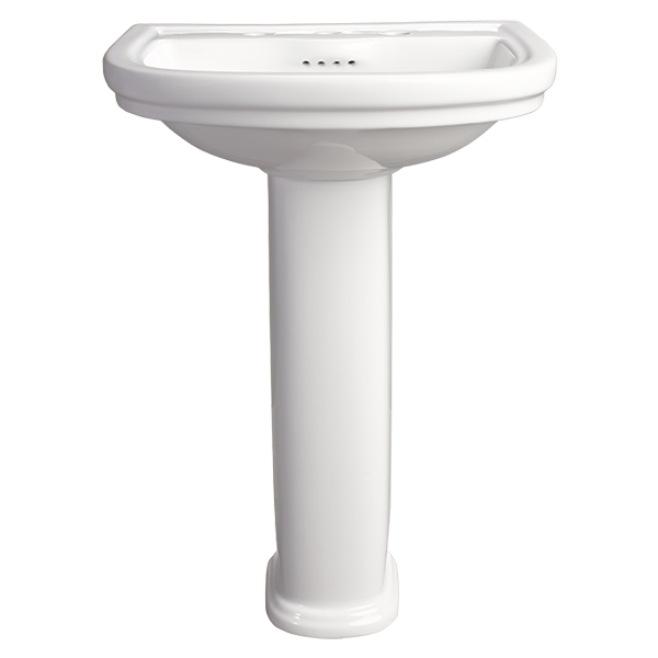 DXV St. George Pedestal Bathroom Sink- Canvas White