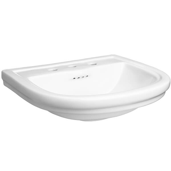 DXV St. George Bathroom Sink- 3 hole- Canvas White