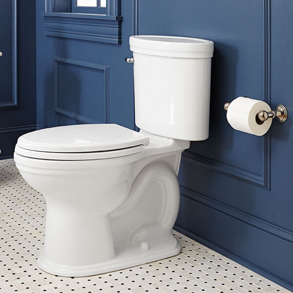 DXV St. George Two-Piece Elongated Toilet Room Scene- Canvas White