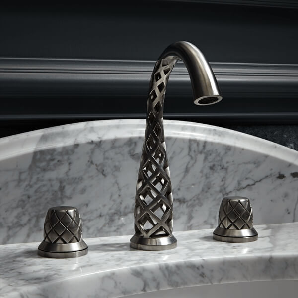 3D Printed Vibrato Faucet on Sink - DXV