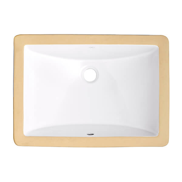 DXV Webster Under Counter 18 Inch by 12 Inch Bathroom Sink- Canvas White